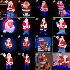 outdoor plastic lighted santa claus lifelike lighted santa claus for christmas decoration buy lighted