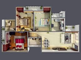 bedroom ranch house plans with walkout basement awesome 3
