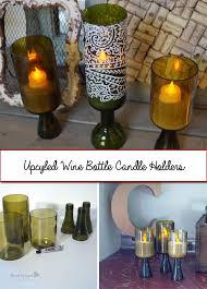Upcycled Wine Bottles - recycled wine bottle candle holder u2013 candle making