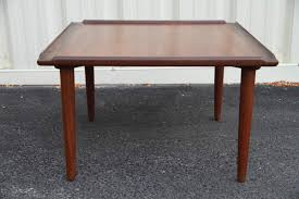 Two Tone Teak Side Table With Raised Edges Id Help Please