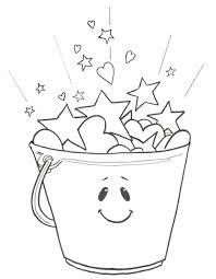 bucket filler coloring page bucket filler coloring sheets summer