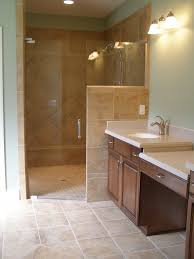 Tiled Shower Ideas For Bathrooms by Walk In Shower Doors Corner Walk In Tile Shower With Frameless
