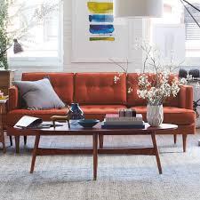 reeve mid century coffee table reeve mid century oval coffee table west elm west la apartment
