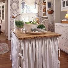 shabby chic kitchen island shabby chic island skirt a table for a kitchen island by mamie
