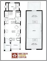 here is the floor plan for the great escape 480 sq ft small beautiful one bedroom house plans loft home remodel the a great