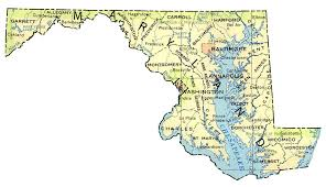 maryland map map of maryland by phonebook of maryland