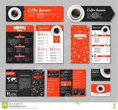 set coffee corporate identity stock vector image 75660012