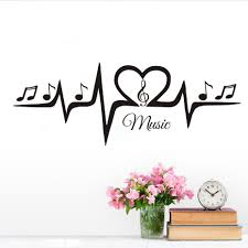 Musical Home Decor by Online Get Cheap Wall Sticker Musical Treble Clef Notes
