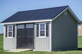 Shed Overhead Door Additional Doors Or Windows Metal Roof Loft One Or Two