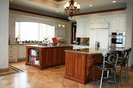 Two Kitchen Islands Large Kitchen With Two Islands Traditional Kitchen