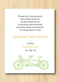 wedding gift donation to charity in lieu of wedding favors donate to your favorite charity and let