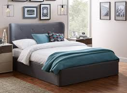 Grey Upholstered Ottoman Bed Warne Grey Fabric Upholstered Ottoman Bed Frame 4 6