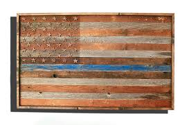 barnwood thin blue line american flag 100 year old wood one of a