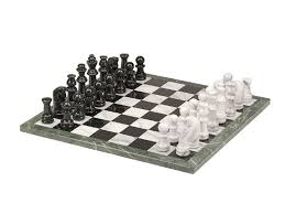 White Chess Set 18in Black And White Marble Chess Set Marble Chess Sets Glass