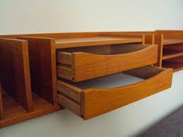 Modern Desk Organizers by Red Cent Modern Pedersen Hansen Teak Desk Organizer Sold