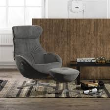 Swedish Leather Recliner Chairs Armchairs And Footstools In Leather And Fabric