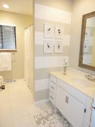 gray wall paint granite countertop mirror with wooden frame