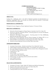 Sample Resume Curriculum Vitae by Dcs Engineer Sample Resume Haadyaooverbayresort Com