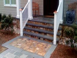 stone patios concrete front porch step ideas front steps design