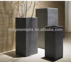 garden decoration tall square textured planters buy decorative