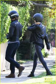 footwear for motorcycle bradley cooper goes for motorcycle ride with irina shayk photo