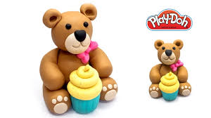 how to make cute teddy bear out of play doh play doh videos