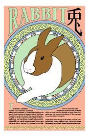 rabbit poster zodiac rabbit information