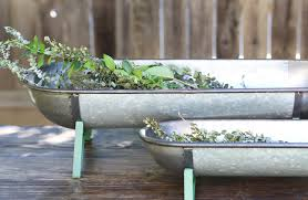 metal trough planter set of 2 garden farmhouse