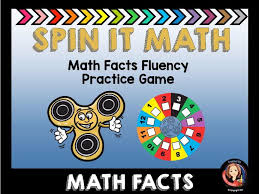 spin it math facts fluency practice game by tammys toolbox