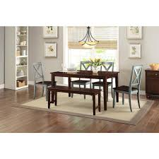 Dining Set With 4 Chairs Better Homes And Gardens Bankston Mocha 6 Dining Set With 4