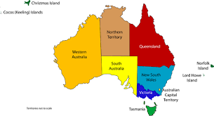 territories of australia map australian state and territory flags