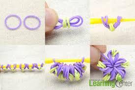 looms bracelet instructions images Easy diy instruction on making a candy color loom flower bracelet jpg