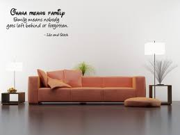 amazon com ohana means family family means nobody gets left amazon com ohana means family family means nobody gets left behind or forgotten wall quote wall decals wall decal wall sticker home kitchen