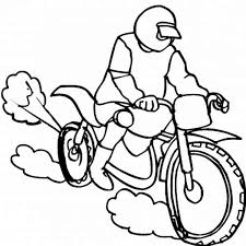 dirt bike coloring pages coloringeast