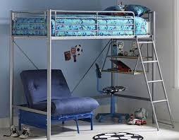 High Sleeper Bed With Futon Metal High Sleeper With Futon Furniture Shop