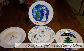 christmas plates christmas tradition paint your plate 2 boys 1 girl one
