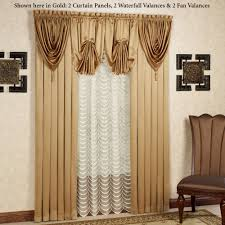 Valance And Drapes Concord Satin Window Treatment