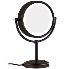 black touch control lighted makeup mirror gurun led makeup mirror 10x magnification reversible double mirror