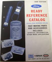 ford ready reference parts catalog mustang thunderbird ranchero