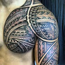 Chest Tattoos - 50 polynesian chest designs for tribal ideas