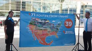 Frontier Airlines Route Map by Frontier Airlines Is Adding 21 Nonstop Destinations From Denver