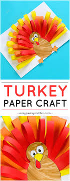 paper turkey craft easy peasy and