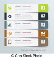 infographic label tab template vectors search clip art
