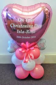 balloon delivery service christening day personalised centrepiece balloon arrangement
