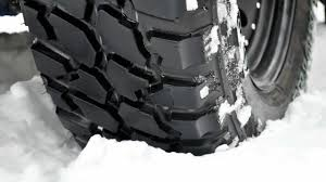 Good Conditon Used 33 12 50 R15 Tires Mud Terrain Tyres In Shallow Snow Youtube