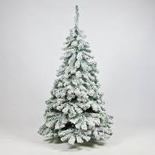 5 foot snow covered downswept artificial tree by
