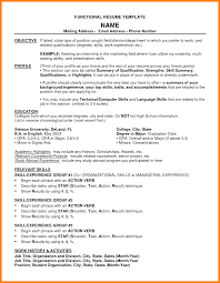 functional resume description chrono functional resume strong snapshot what is a sle