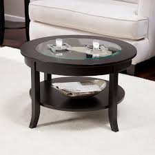 coffee tables splendid black round vintage wood and glass small