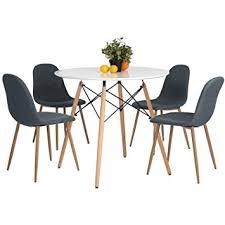 Eames Bistro Table Amazon Com Kitchen Dining Table White Round Coffee Table Modern