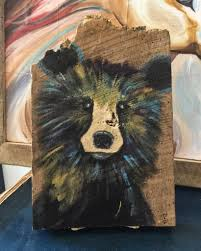 The Pants Barn Abstract Bear Painted On Barn Wood At Walking Pants Curiosities
